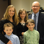 Tony with wife Margie and children Travis, Madelyn and Trevor