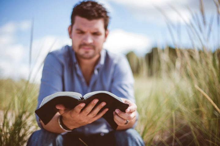 Man reading Bible - walking in subjection photo